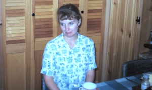 Mom in kitchen 60s