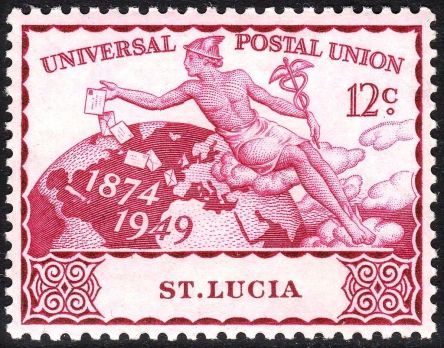 Mercury_on_a_St._Lucia_1949_UPU_stamp